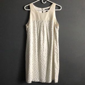 WHBM | Silver Winter White Dress Size 12